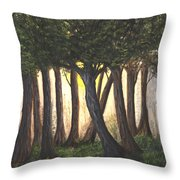 Imagined Forest Throw Pillow