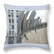 Imaging Chicago Throw Pillow