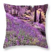 Img 4892_ Purple Lupine_ Yosemite National Park  Throw Pillow