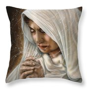 Immaculate Conception - Mothers Joy Throw Pillow