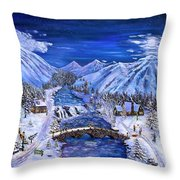 Immanuels Crossing Throw Pillow