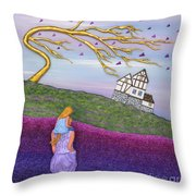 Immersed Throw Pillow by Anne Klar