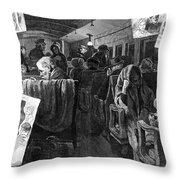 Immigrant Coach Car, 1881 Throw Pillow