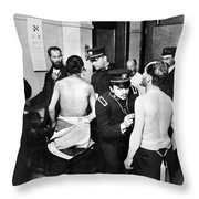 Immigrant Inspection, 1907 Throw Pillow