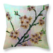 Immortal Almond  Throw Pillow