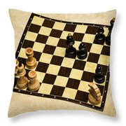Immortal Chess - Anand Vs Topalov 2005 Throw Pillow