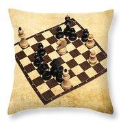 Immortal Chess - Byrne Vs Fischer 1956 Throw Pillow