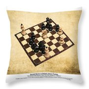 Immortal Chess - Byrne Vs Fischer 1956 - Moves Throw Pillow