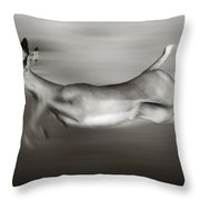 Impala Running  Throw Pillow