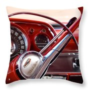 Red Belair With Dice Throw Pillow