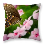 Impatient Swallowtail Throw Pillow