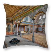 Imperial Hall Of Harem In Topkapi Palace Throw Pillow by Ayhan Altun