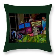 Imperial Laundry Truck Throw Pillow