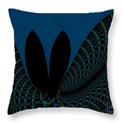 Impermanence On The Time Space Continuum Throw Pillow by Peter R Nicholls