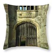 Imposing Front Door Of Titchfield Abbey Throw Pillow
