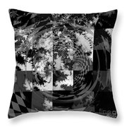 Impossible Reflections B/w Throw Pillow