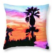 Impression Desert Sunset V2 Throw Pillow