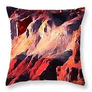 Impression Of Capitol Reef Utah At Sunset Throw Pillow