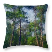Impression Trees Throw Pillow