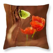 Impression With Red Poppies Throw Pillow