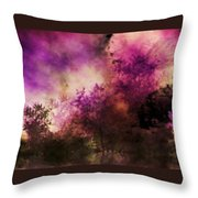 Impressionism Style Landscape Throw Pillow