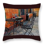 Impressionism The Looney Bean Cafe  Throw Pillow