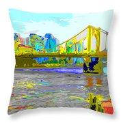 Impressionist Clemente Bridge 2 Throw Pillow
