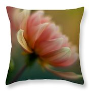 Impressionist Dahlia Throw Pillow