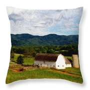Impressionist Farming Throw Pillow