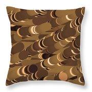 Impressionist Golden Rising Sand Castle Show Pattern Art 36x12 Horizontal Landscape Energy Graphics  Throw Pillow