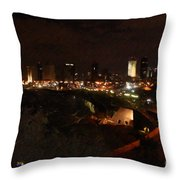 Jaffe At Night Throw Pillow