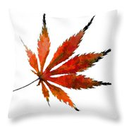 Impressionist Japanese Maple Leaf Throw Pillow