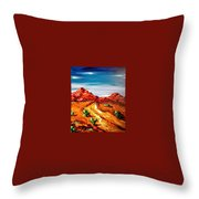 Impressionist Road Throw Pillow