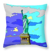 Impressionist Statue Of Liberty Throw Pillow