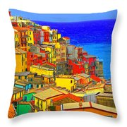Impressionistic Photo Paint Gs 008 Throw Pillow