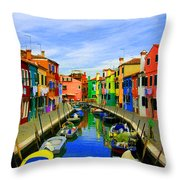 Impressionistic Photo Paint Gs 013 Throw Pillow