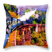 Impressionistic Photo Paint Gs 016 Throw Pillow by Catf