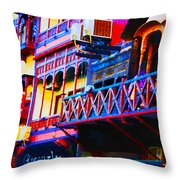 Impressionistic Photo Paint Ls 001 Throw Pillow