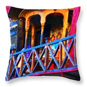 Impressionistic Photo Paint Ls 006 Throw Pillow