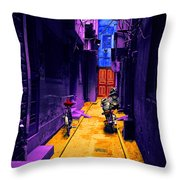 Impressionistic Photo Paint Ls 007 Throw Pillow
