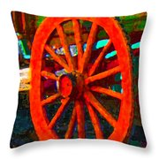 Impressionistic Photo Paint Ls 011 Throw Pillow