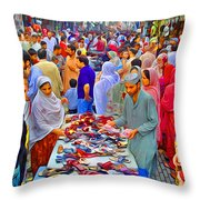 Impressionistic Photo Paint Ls 013 Throw Pillow