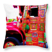 Impressionistic Photo Paint Ls 017 Throw Pillow