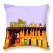 Impressionistic Photo Paint Ls 025 Throw Pillow