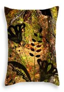 Impressions - Forest - Flowers Throw Pillow
