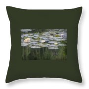 Impressions Of Monet's Water Lilies  Throw Pillow