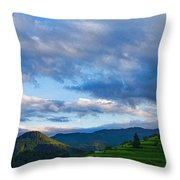 Impressions Of Mountains And Magical Clouds Throw Pillow