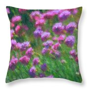 Impressions Of Purple Throw Pillow