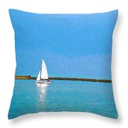 Impressions Of Sailing Throw Pillow