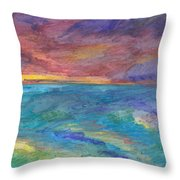 Impressions Of The Sea 1 Throw Pillow